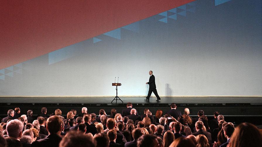 17 ноября 2017. Президент РФ Владимир Путин на церемонии открытия VI Санкт-Петербургского международного культурного форума