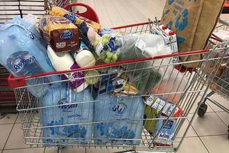 Тележки с продуктами в одном из супермаркетов в Дохе