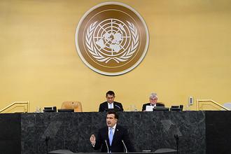 Делегация России покинула зал Генассамблеи ООН во время выступления Саакашвили