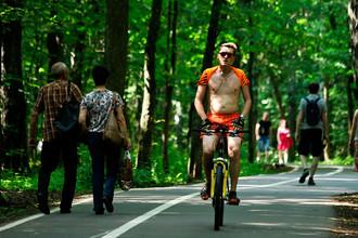 Горожане отдыхают в парках Москвы