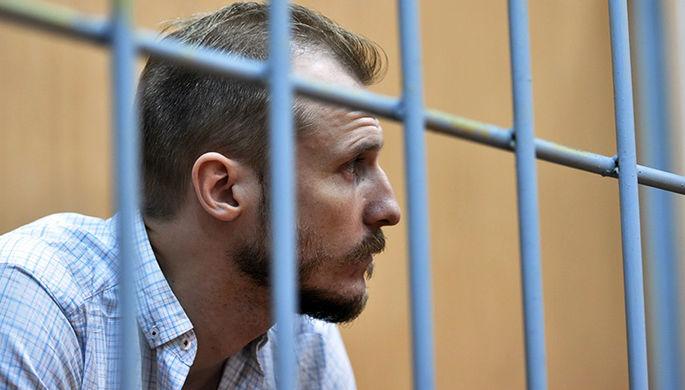 Андрей Косых во время заседания в Тверском суде, 9 августа 2017 года
