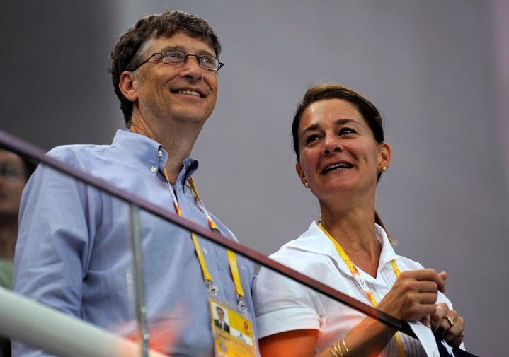 Билл и Мелинда Гейтс на Олимпийских играх в Пекине, 2008 год