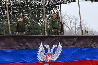 Во время военно-полевых сборов резервистов самопровозглашенной ДНР на полигоне в Шахтерском районе