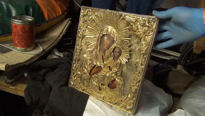 «Думали, не найдут»: ФСБ нашла подаренную Путиным Иверскую икону