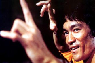 Последний кадр из фильма «Игра смерти», в период съемок которого было объявлено о смерти Ли, 1978 год