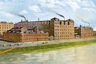 Фабрика товарищества «Эйнем» в Москве, 1896 год