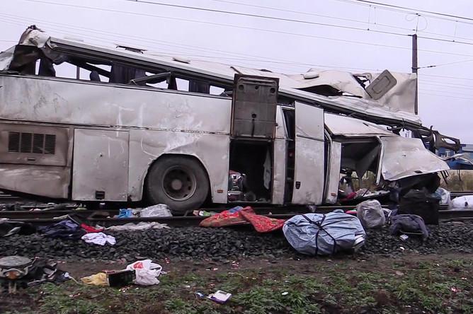 Последствия аварии на железнодорожном переезде в Покрове во Владимирской области, 6 октября 2017 года