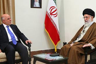 Премьер-министр Ирака Хайдер аль-Абади и верховный лидер Ирана аятолла Али Хаменеи