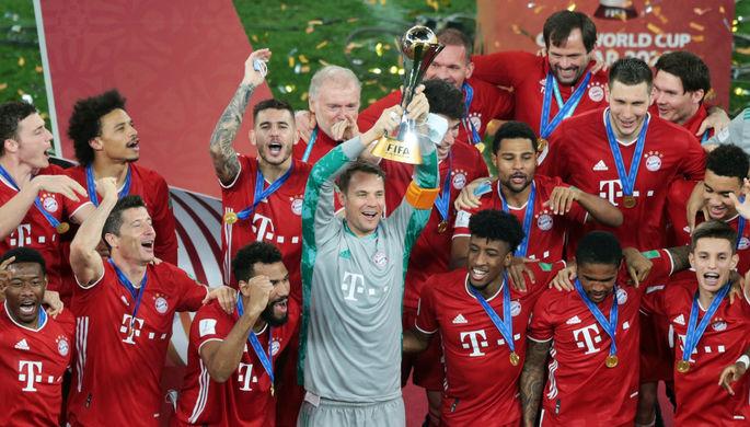 Футболисты «Баварии» празднуют победу в клубном чемпионате мира