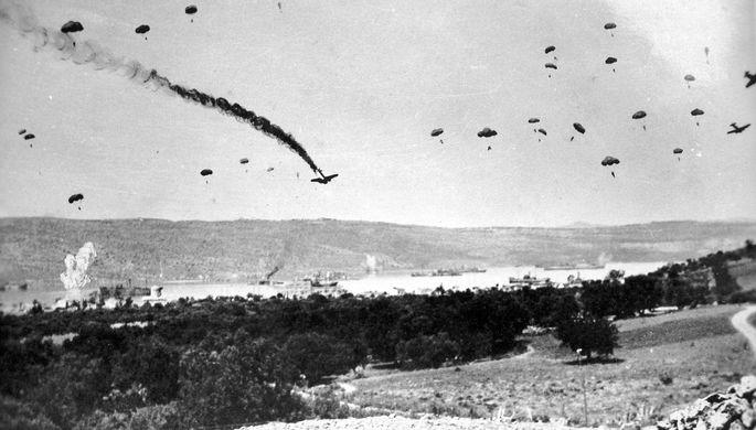 Высадка немецких парашютистов на Крит, 1941 год