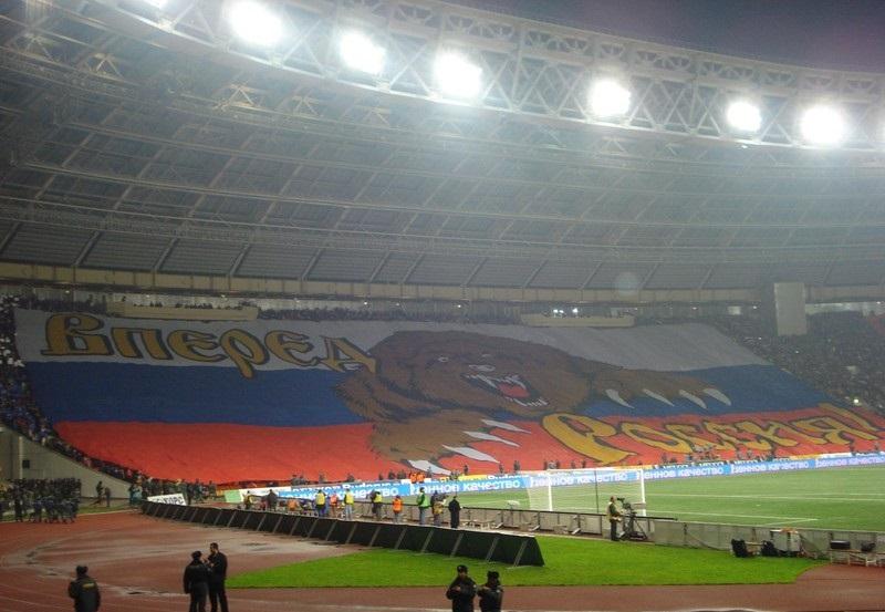 Первая масштабная акция ВОБ на матче Россия — Англия. Москва, 17 октября 2007 года
