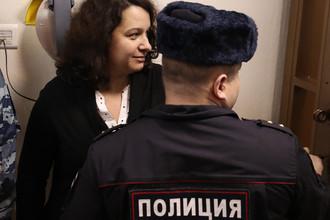 Врач-гематолог Елена Мисюрина в зале Московского городского суда, 5 февраля 2018 года