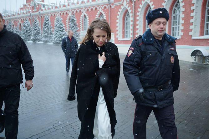 Ксения Собчак после нападения, 4 марта 2018 года