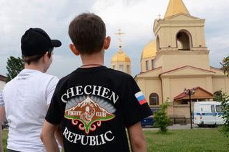 Церковь Архангела Михаила в центре Грозного, 19 мая 2018 года