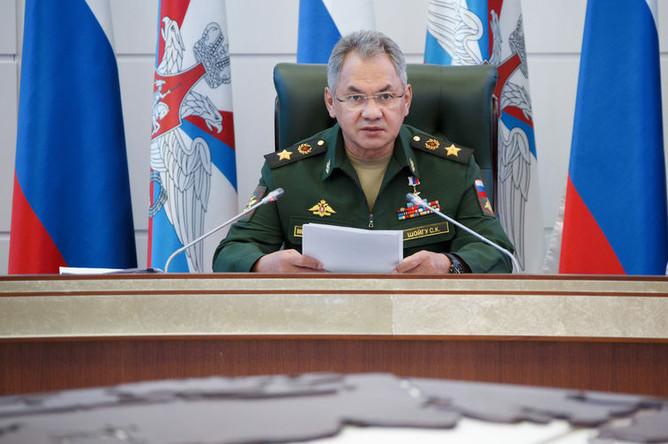 Министр обороны России генерал армии Сергей Шойгу на заседании коллегии Минобороны, 21 августа 2019 года