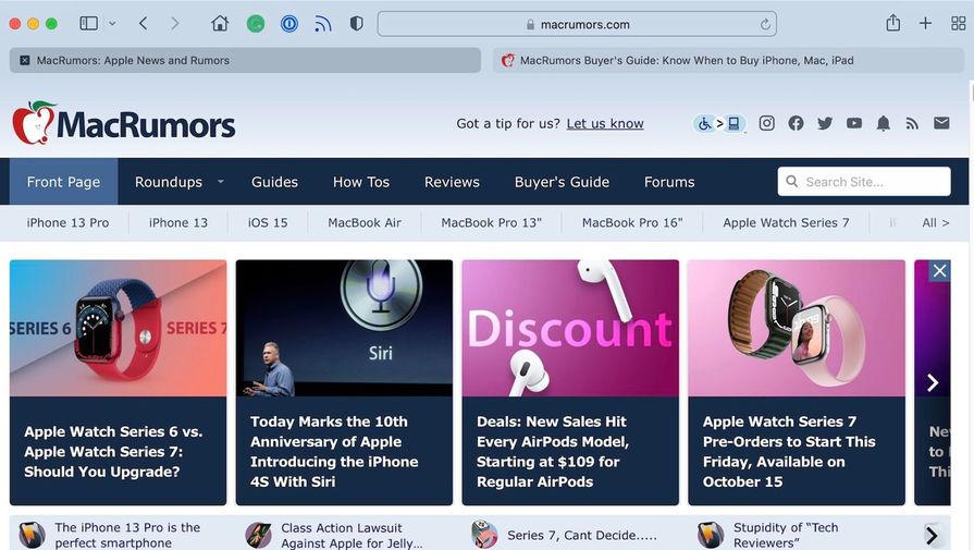 Пользователи раскритиковали новую версию Safari