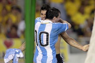 Агуэро забил первым мяч в отборочном цикле