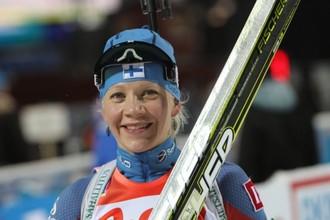 Кайса Мякяряйнен впервые выиграла индивидуальную гонку на этапе Кубка мира