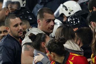 На стадионе в Подгорице были пострадавшие