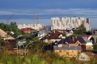 Вид на деревню Десна и жилищный комплекс «Новые Ватутинки»