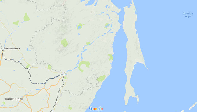 Остров Сахалин на картах Google