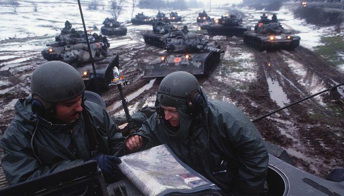 Военнослужащие США во время учений Able Archer 83