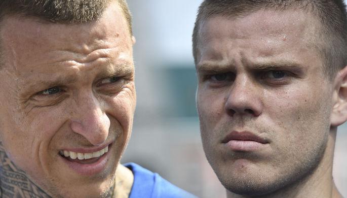 Футболисты Александр Кокорин и Павел Мамаев в Московском городском суде во время пересмотра апелляционного приговора, 31 июля 2020 года