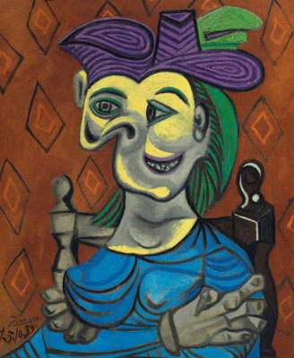 Пабло Пикассо. «Сидящая женщина в голубом платье», $ 45 млн