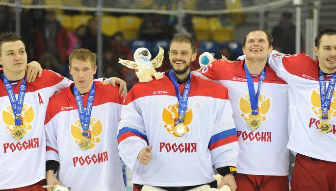 Сборная России по хоккею победила на Универсиаде в Алма-Ате