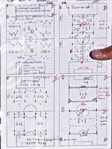 Тактические схемы Моуринью (<i>фото кликабельно</i>)