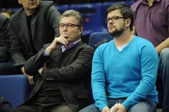 Лев Лещенко на одном из матчей баскетбольного ЦСКА