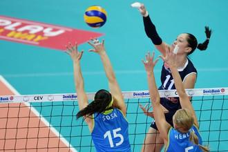 Екатерина Гамова привела казанское «Динамо» к очередной победе в волейбольной Лиге чемпионов