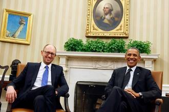 Встреча Арсения Яценюка и Барака Обамы в Вашингтоне. Март 2014 года