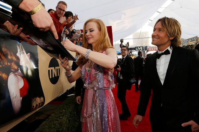 Николь Кидман и Кит Урбан на 22-й ежегодной церемонии вручения наград Гильдии киноактеров