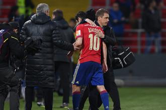 Замененный из-за повреждения Алан Дзагоев сохраняет шансы сыграть со «Спартаком»