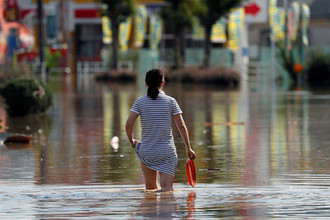 Последствия наводнения в префектуре Окаяма в Японии, 8 июля 2018 года