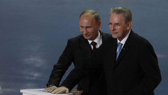 Владимир Путин и Жак Рогге