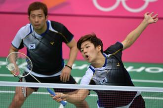 Корейские спортсмены Чон Чжэ Сон (справа) и Ли Ен Дэ на Олимпиаде-2012