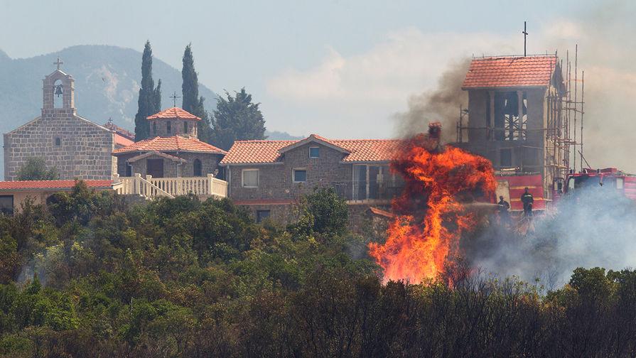 Пожары в Черногории (Тиват), 17 июля 2017 года