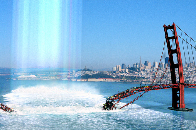 Кадр из фильма «Земное ядро» (2003)