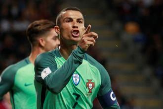 Криштиану Роналду оформил дубль в ворота сборной Латвии