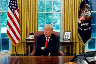 Президент США Дональд Трамп в Овальном кабинете Белого дома во время интервью, 20 августа 2018 года