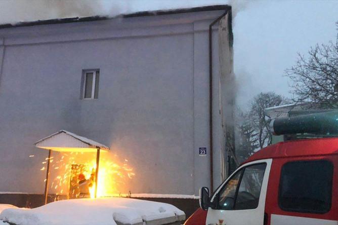 Ситуация на территории Киево-Печерской, где произошел пожар, 14 января 2019 года