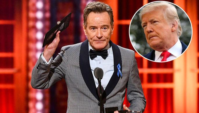 Во все тяжкие: Брайан Крэнстон пристыдил Трампа на премии «Тони»