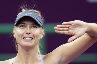 Мария Шарапова на турнире в Дохе