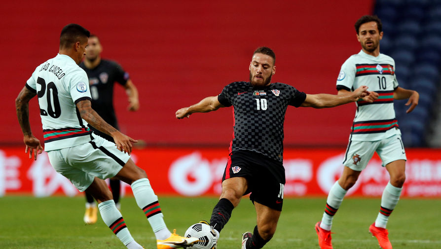 Никола Влашич в матче Португалия — Хорватия