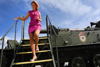 240-мм самоходный миномет 2С4 «Тюльпан» представлен в открытой экспозиции на Международном военно-техническом форуме «Армия-2016»