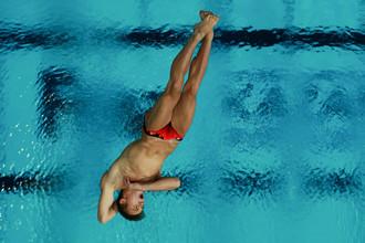 Российский прыгун в воду Никита Шлейхер