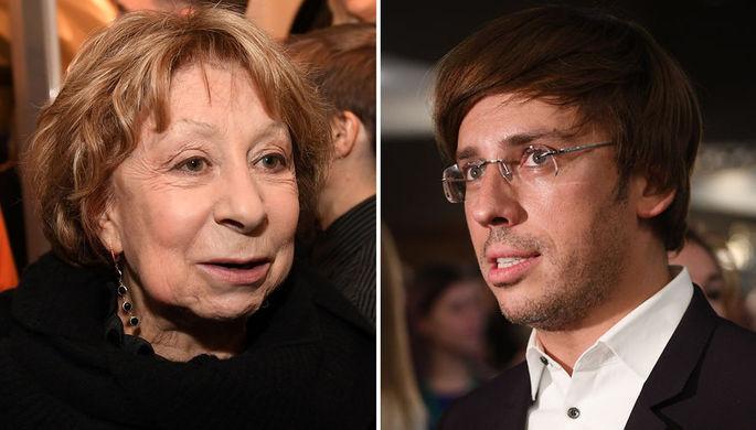 Актриса Лия Ахеджакова и телеведущий Максим Галкин, коллаж