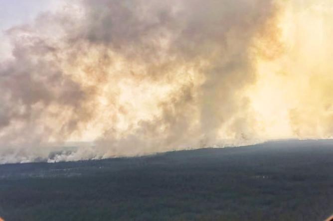 Дым от лесных пожаров в Республике Саха (Якутия), 30 июля 2019 года